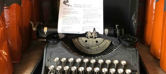Typewriter with menu