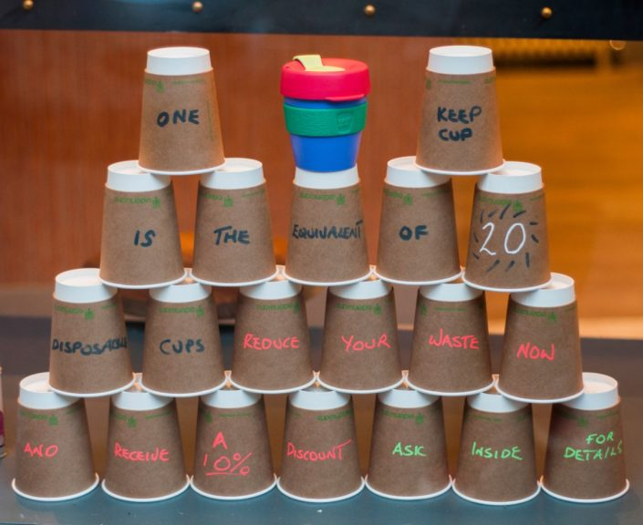 cups in a stack showing reusable cup