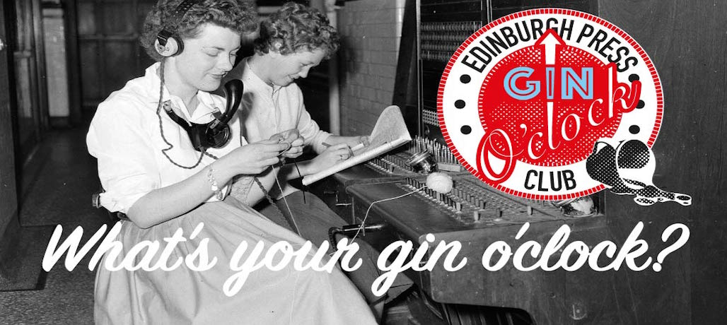 Gin O'clock promotion Edinburgh Press Club