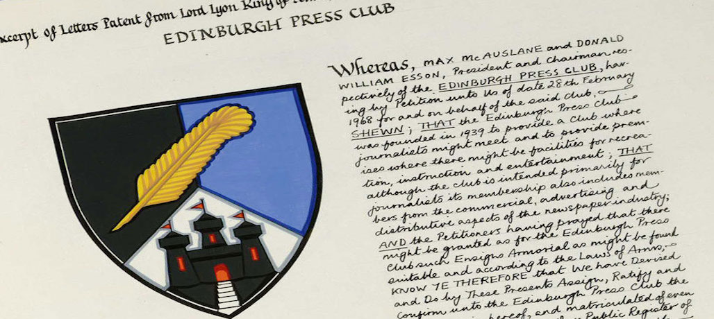 Coat of arms history of Edinburgh Press Club