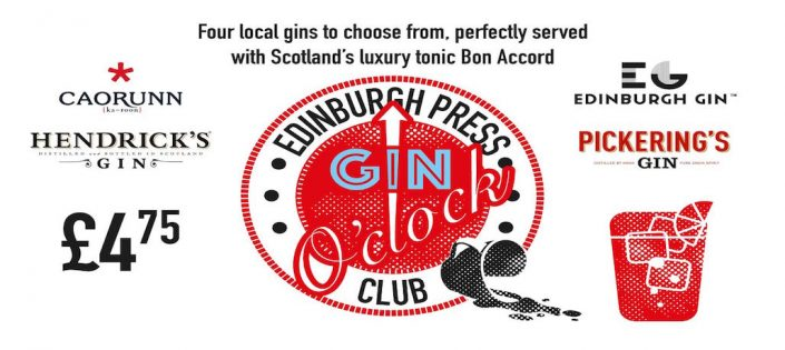 Edinburgh Press club gin promotion